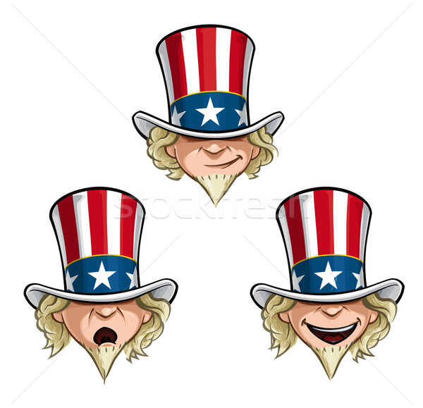Uncle Sam Head Stock photo © nazlisart