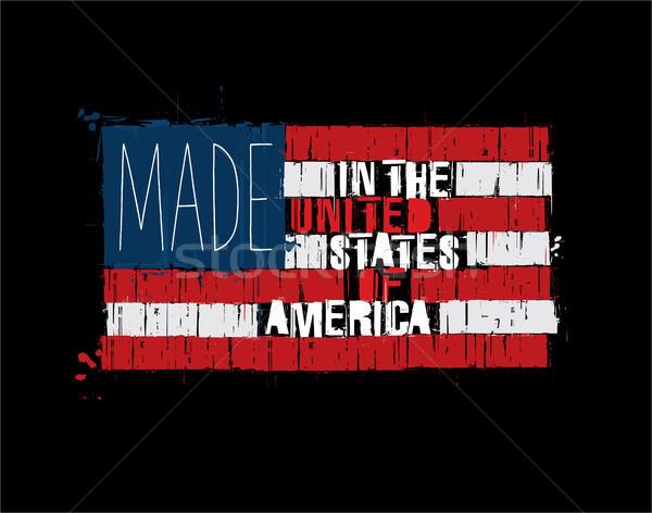 Stok fotoğraf: Amerikan · metin · bayrak · ABD · grunge
