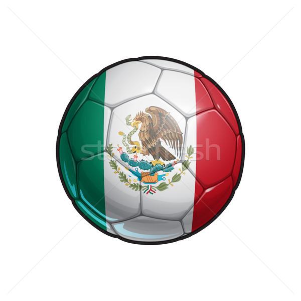 Mexican Flag Football - Soccer Ball Stock photo © nazlisart