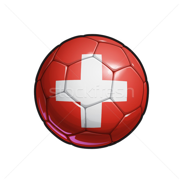 Swiss Flag Football - Soccer Ball Stock photo © nazlisart