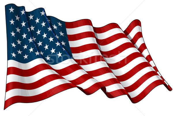 Flag of USA Stock photo © nazlisart