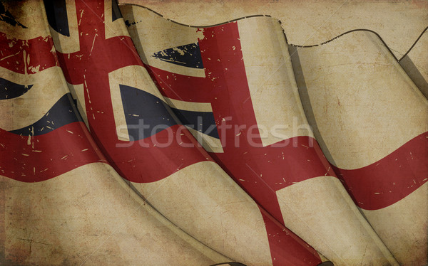 British Naval Flag 1606–1801 (The King's Colours) Old Paper Stock photo © nazlisart