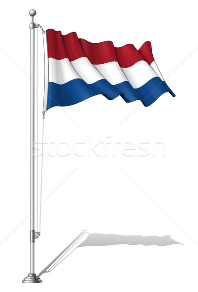 Flag Pole Netherlands Stock photo © nazlisart