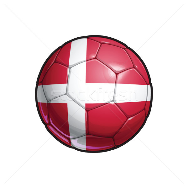 Danish Flag Football - Soccer Ball Stock photo © nazlisart