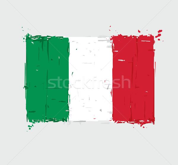 Italian flag artystyczny włoski banderą Zdjęcia stock © nazlisart