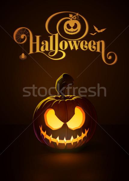 Jack-o-Lantern Dark Scary Rag-Doll Stock photo © nazlisart