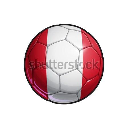 Peruvian Flag Football - Soccer Ball Stock photo © nazlisart