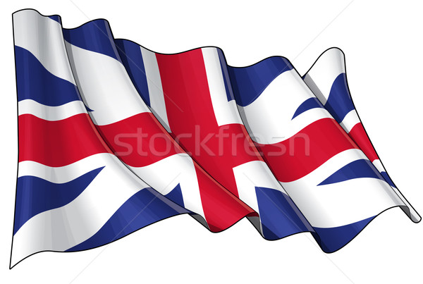 Union Jack 1606–1801 (The King's Colours) Stock photo © nazlisart