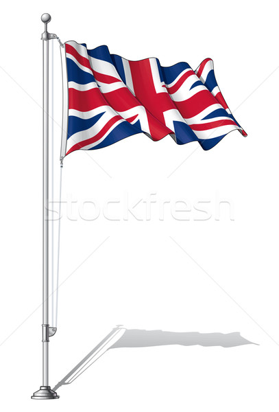 Flag Pole UK Stock photo © nazlisart