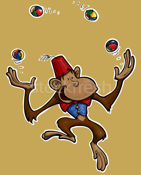 Little Monkey Juggler Stock photo © nazlisart