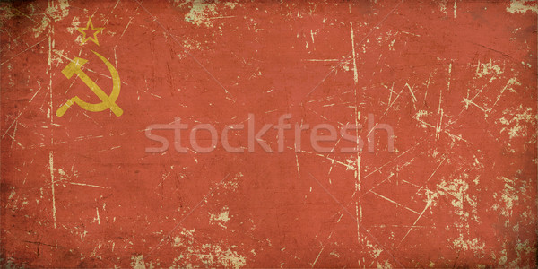 Soviet Union Flag Flat Aged Stock photo © nazlisart