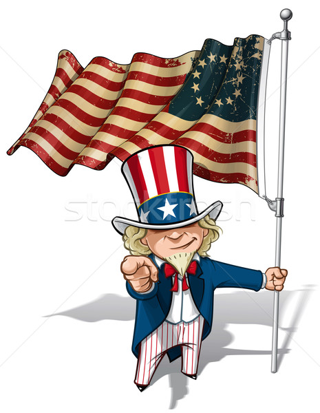 Uncle Sam I Want You - Betsy Ross Flag Stock photo © nazlisart