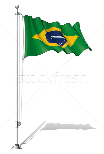 Flag Pole Brazil Stock photo © nazlisart