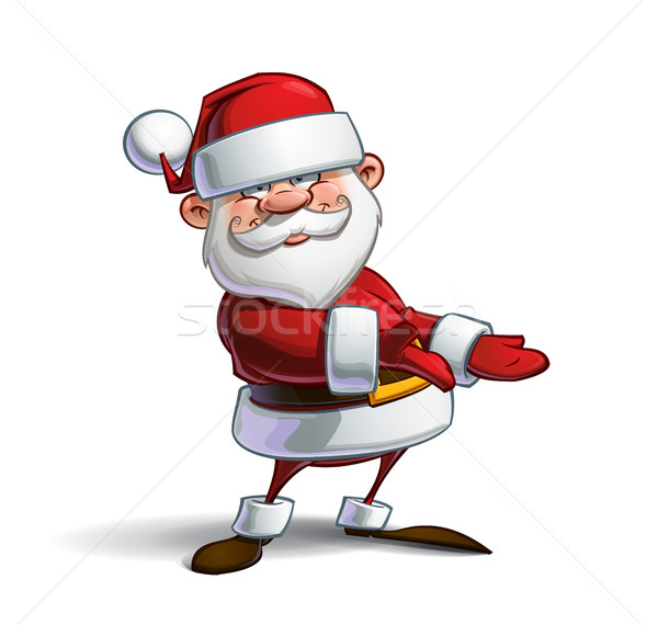 Happy Santa - Showing Stock photo © nazlisart