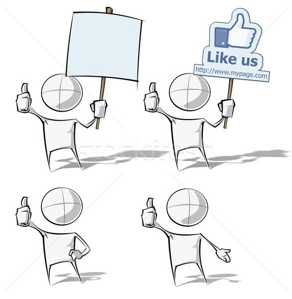 Einfache Menschen wie Set spärlich Vektor Stock foto © nazlisart