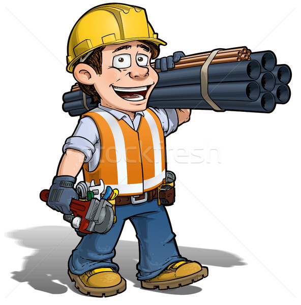 Construction Worker - Plumber Stock photo © nazlisart