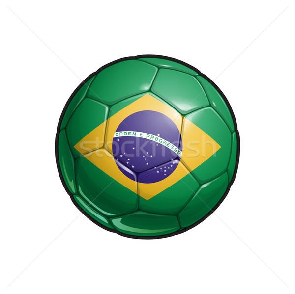 Brazilian Flag Football - Soccer Ball Stock photo © nazlisart