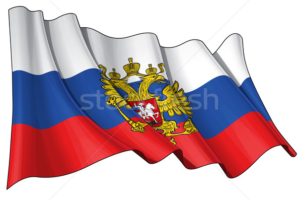 State Flag of Russia Stock photo © nazlisart
