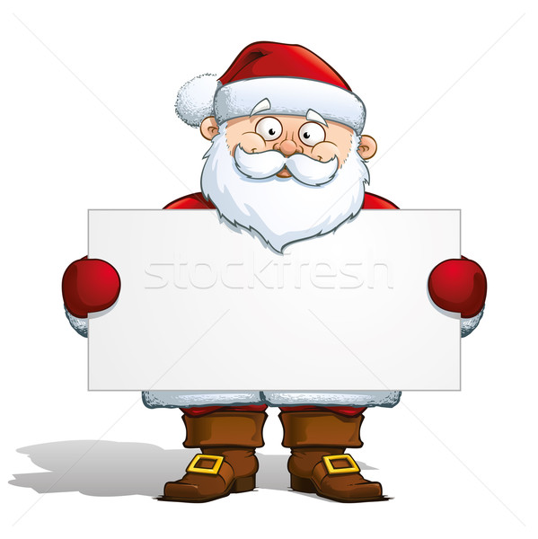 Santa Holding a Label Stock photo © nazlisart