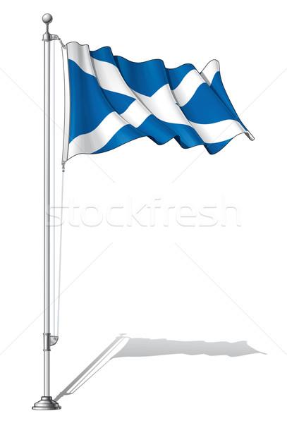 Flag Pole Scotland Stock photo © nazlisart