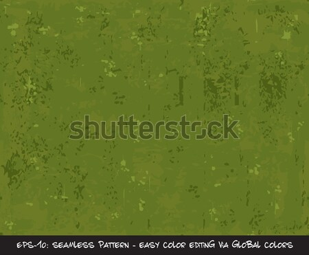 Seamless Pattern - Camouflage - Khaki Green Stock photo © nazlisart