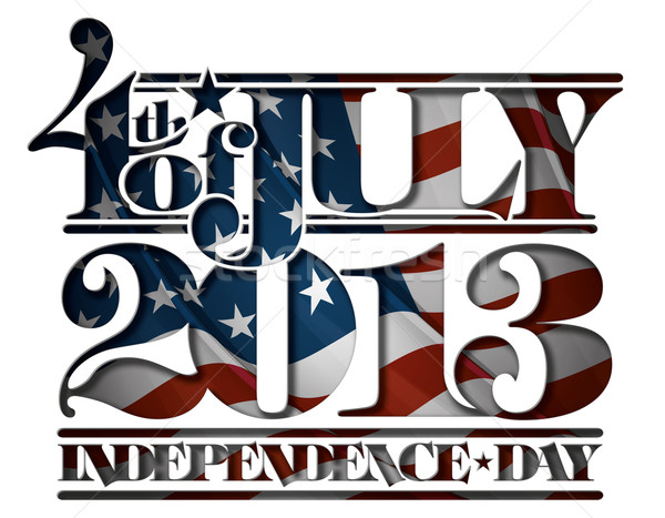Forth of July 2013 Independence Day Cut-Out Stock photo © nazlisart