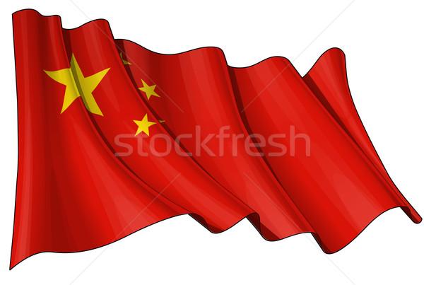 Flag of China Stock photo © nazlisart