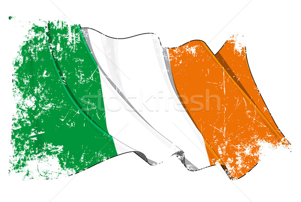 Grunge Flag of Ireland Stock photo © nazlisart