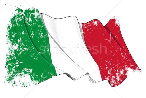 Grunge Flag of Italy Stock photo © nazlisart
