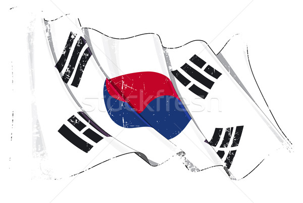 Stock photo: Grunge Flag of South Korea