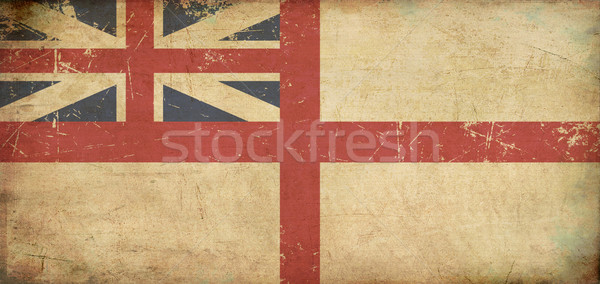 British Naval Ensign 1606–1801 (The King's Colours) Flat Aged Stock photo © nazlisart