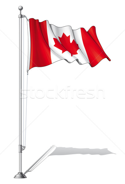 Flag Pole Canada Stock photo © nazlisart