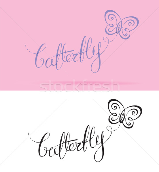 Butterfly Lettering Stock photo © nazlisart