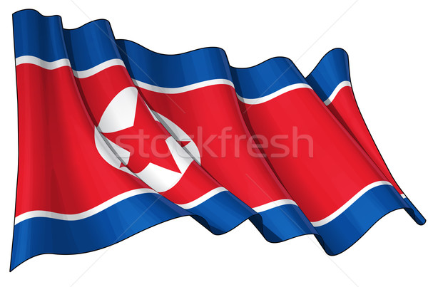 North Korean Flag Stock photo © nazlisart