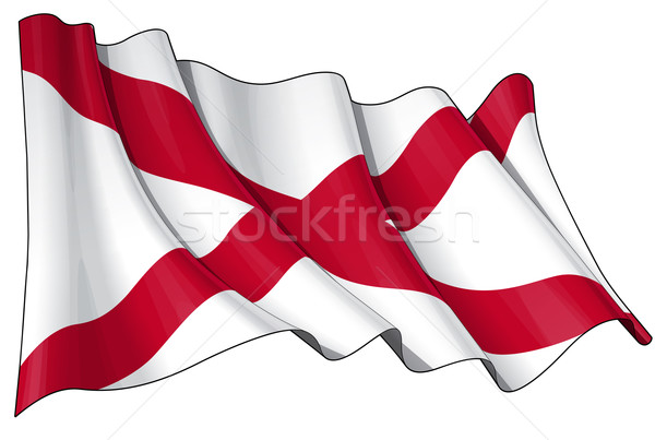 St Patrick's Saltire (N.Irish flag) Stock photo © nazlisart