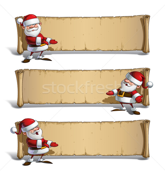 Happy Santas Papyrus - Presenting Set Stock photo © nazlisart