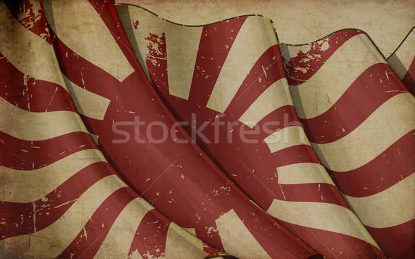 Papel viejo ilustración Rusty bandera impreso guerra Foto stock © nazlisart