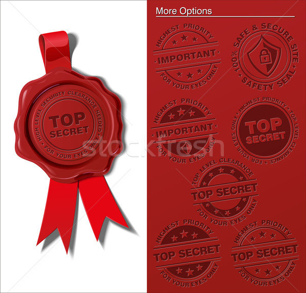 Wax Shield - Top Secret & Important Stock photo © nazlisart
