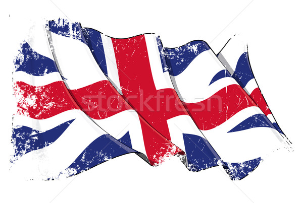 Union Jack 1606–1801 (The King's Colours) Grunge Stock photo © nazlisart