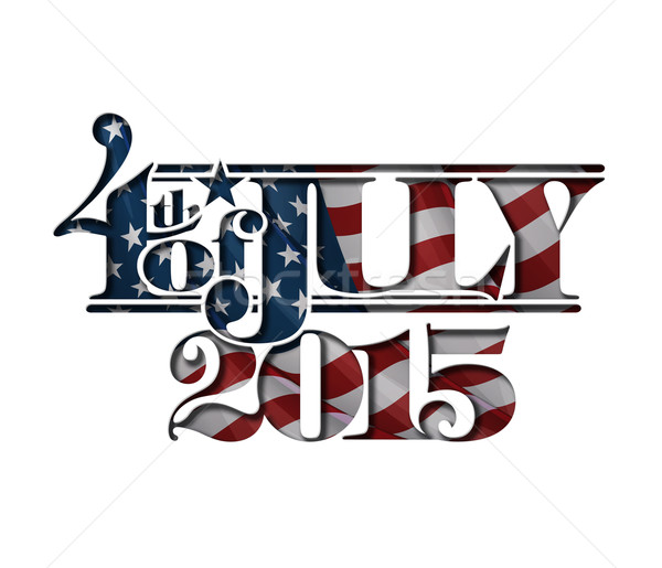 4th of July Cut-Out 2015 Stock photo © nazlisart