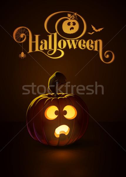 Sötét ijedt izzó vám tipográfia öreg Stock fotó © nazlisart