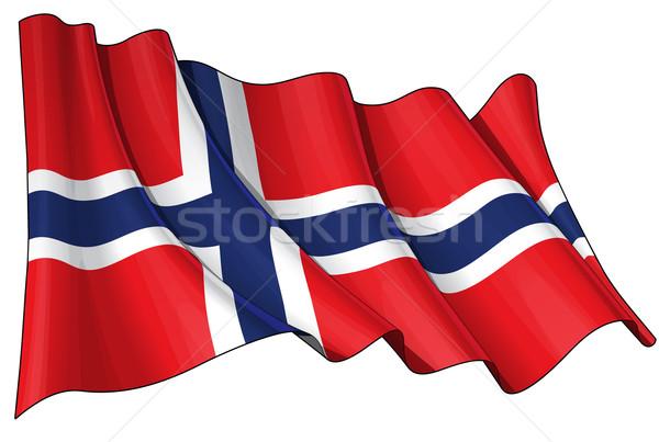 Stock photo: Flag of Norway