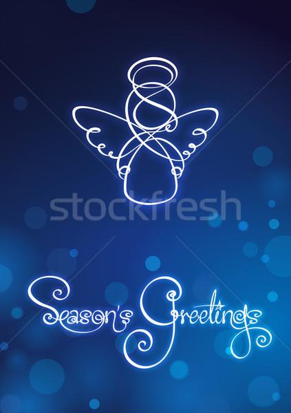 Seasons Greetings - Angel Card Stock photo © nazlisart