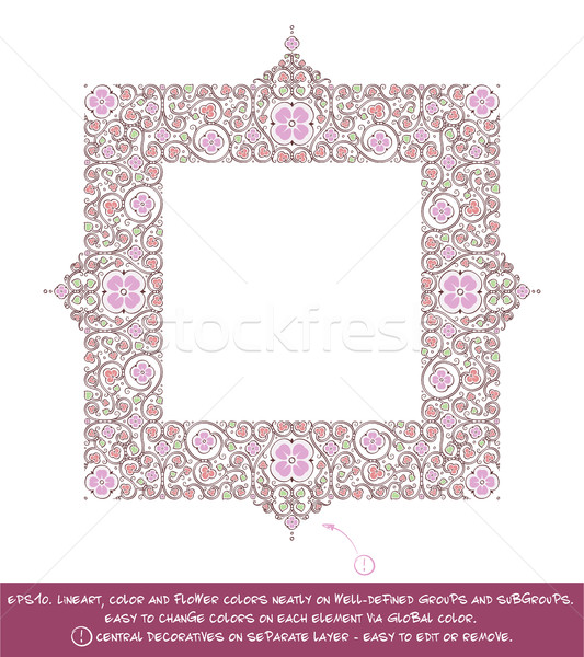 Square Flower Decorative Ornaments - Lilac Stock photo © nazlisart