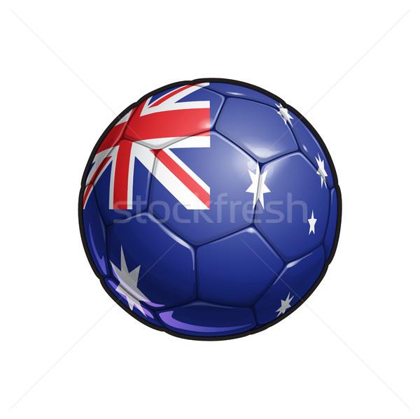 Australian Flag Football - Soccer Ball Stock photo © nazlisart