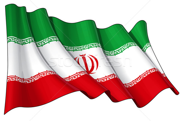 Iranian Flag Stock photo © nazlisart