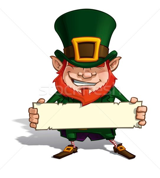 St. Patrick Holding a Label Stock photo © nazlisart