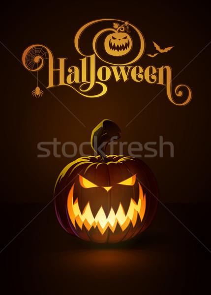 Jack-o-Lantern Dark Scary Stock photo © nazlisart