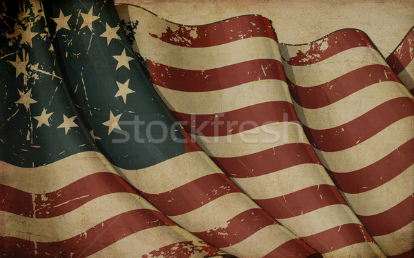 USA Betsy Ross Old Paper Stock photo © nazlisart