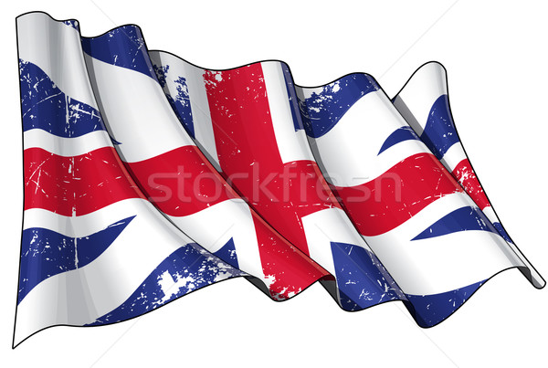 Union Jack 1606–1801 (The King's Colours) Scratched Stock photo © nazlisart